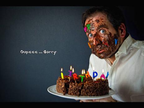 Креативное фото с дня рождения